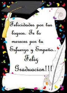 deseos de éxito graduación