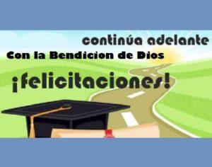 éxito y alegría por tu graduación adelante