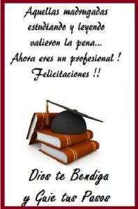 éxito y alegría por tu graduacion felicidades