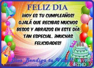 felicidades en un dia especial cumpleaños