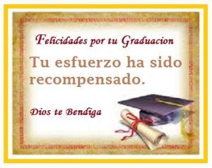 felicidades por tu graduación esfuerzo