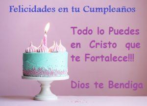 felicitaciones de cumpleaños cristo
