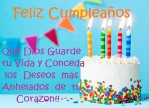 felicitaciones de cumpleaños Dios