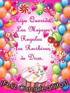 feliz cumpleaños a mi hija Dios