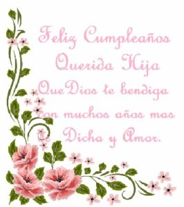 feliz cumpleaños a mi hija querida