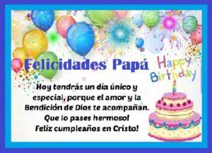 feliz cumpleaños para mi papá Cristo
