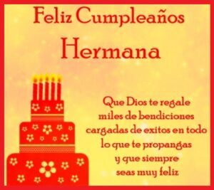 cumpleaños para tu hermana bendiciones