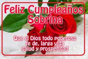 feliz cumpleaños sobrina Dios