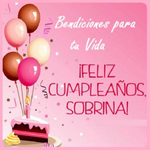 feliz cumpleaños sobrina pastel
