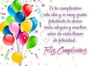 desear feliz cumpleaños alegria