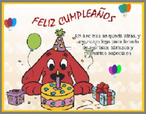 feliz cumpleaños para niños especial
