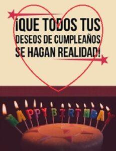Cumpleaños con Alegría deseos