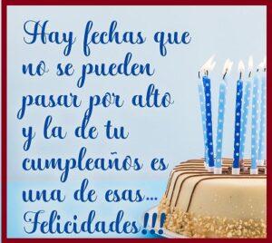 Cumpleaños con Alegría fechas