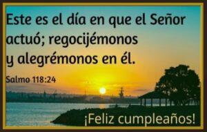 cumpleaños con palabra de Dios alegría