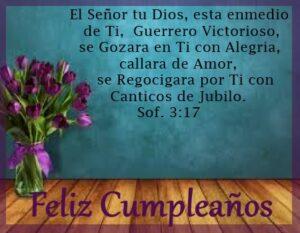 cumpleaños  con palabra de Dios amor